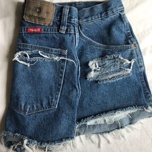 high wasted wrangler shorts